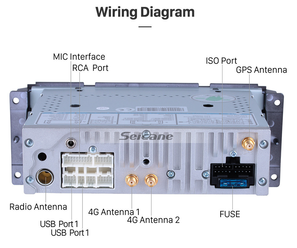 hight resolution of  seicane android 8 1 hd touchscrenn car radio head unit for 2001 2007 chrysler 300m pt