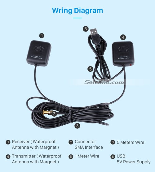 small resolution of  wiring diagram universal singal amp amplifier for automotive gps antenna navigation positioning module with low noise
