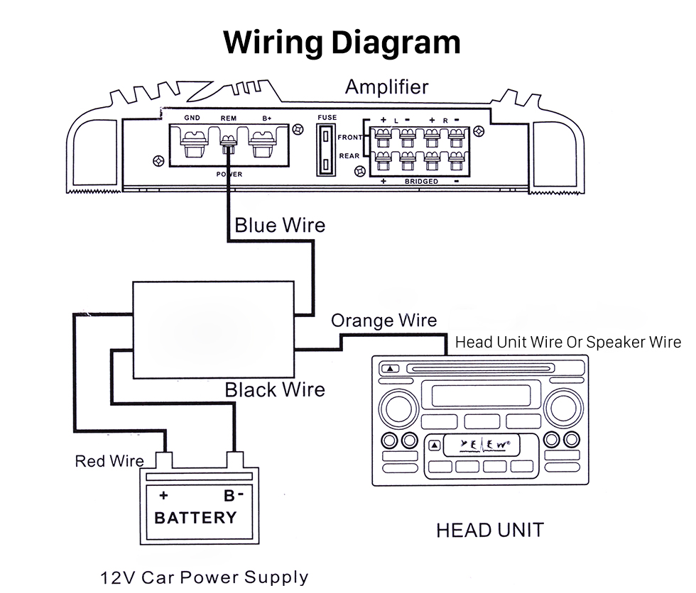 hight resolution of car wire harness audio power amplifier time delayer starter adapter power amplifier wiring diagram power amp wiring