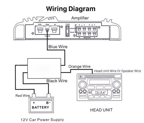 small resolution of car wire harness audio power amplifier time delayer starter adapter power amplifier wiring diagram power amp wiring