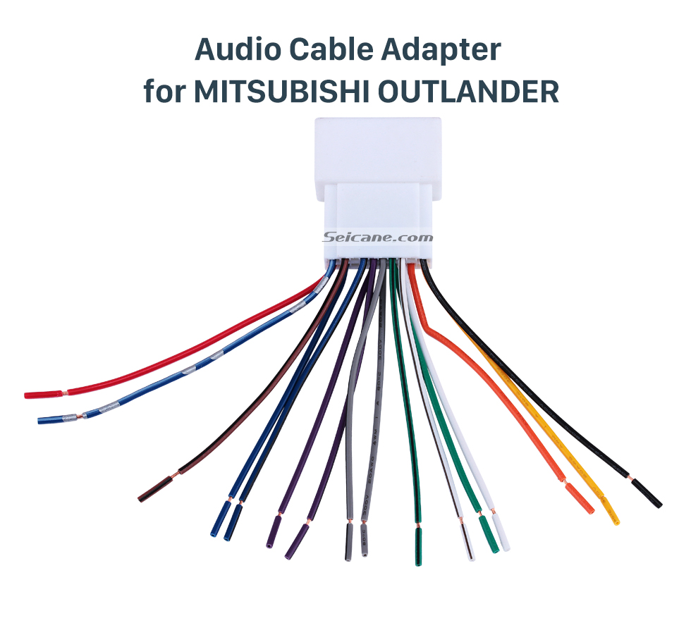 hight resolution of audio cable adapter for mitsubishi outlander car stereo wiring harness plug adapter audio cable for mitsubishi