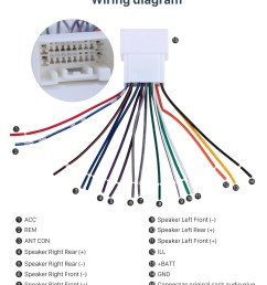 car stereo wiring harness plug adapter audio cable for mitsubishi sony stereo wiring colors wiring diagram [ 980 x 1192 Pixel ]