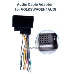 seicane audio cable car stereo wiring harness plug adapter for volkswagen audi passat  [ 980 x 897 Pixel ]