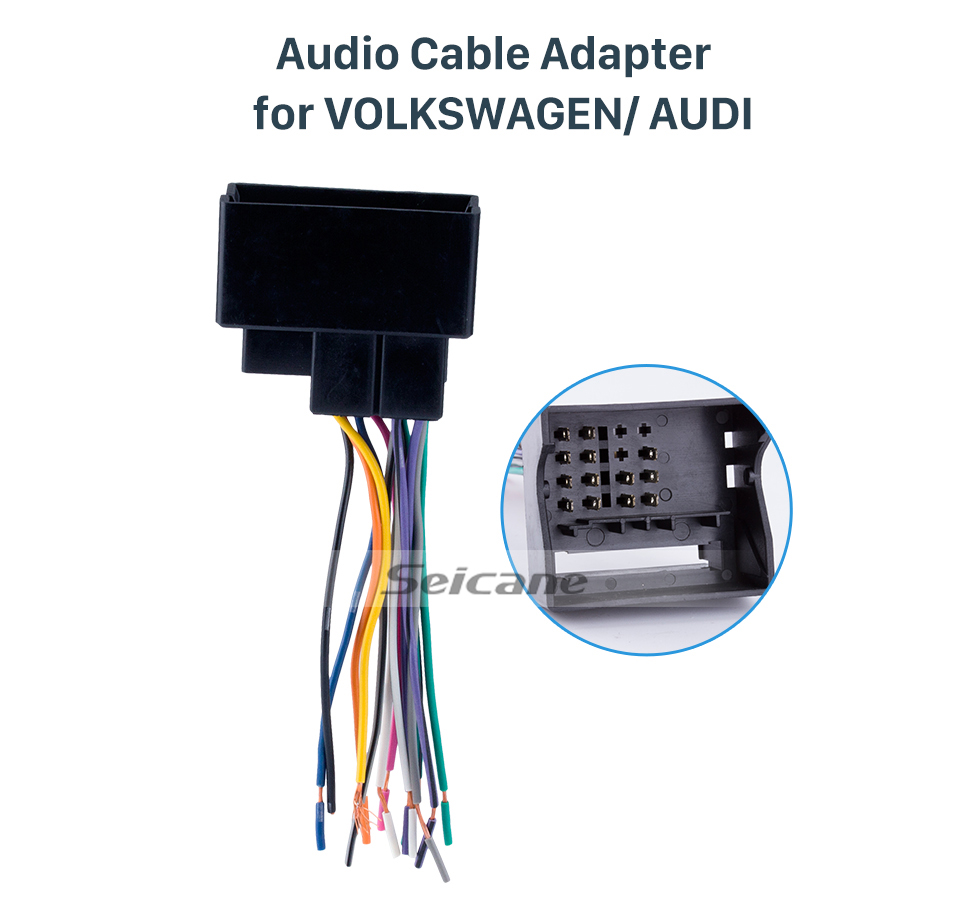 hight resolution of seicane audio cable car stereo wiring harness plug adapter for volkswagen audi passat