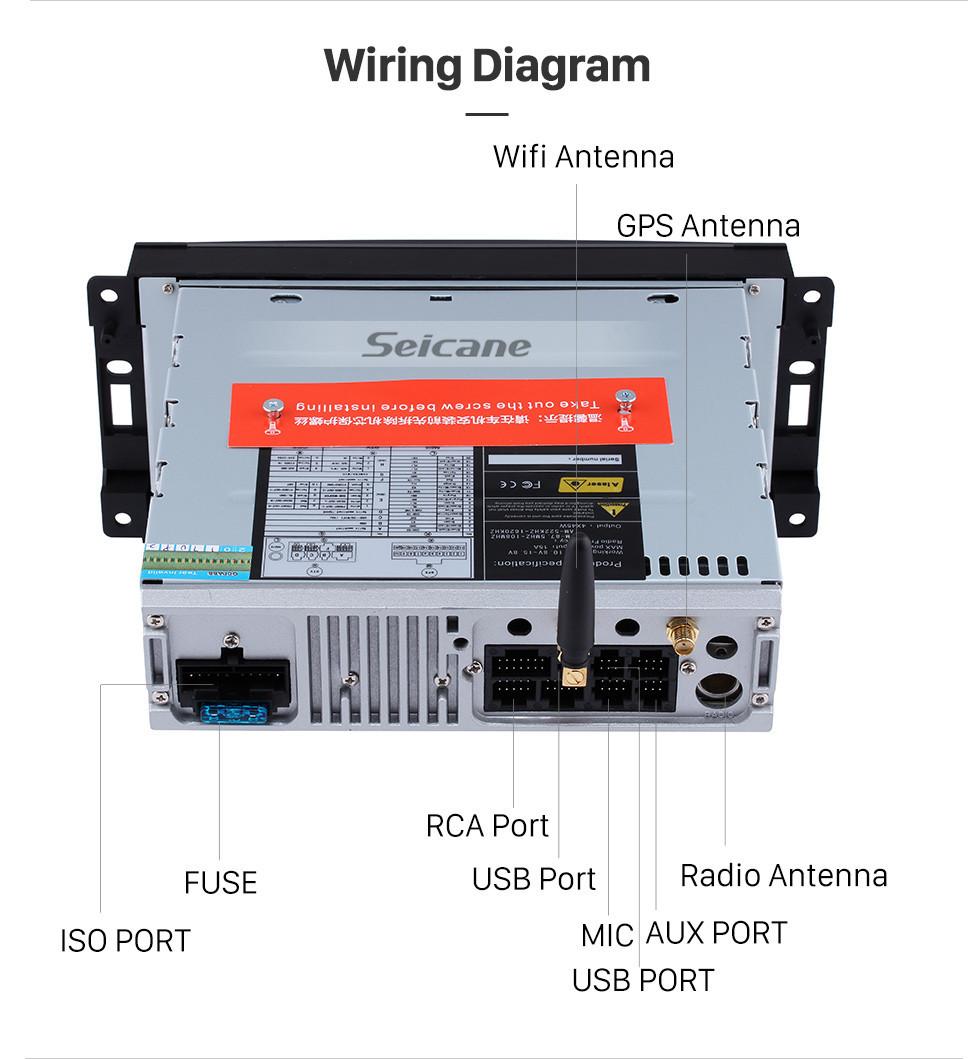 hight resolution of  seicane android 9 0 radio 2008 2009 2010 jeep commander gps navigation bluetooth usb wifi dvd player