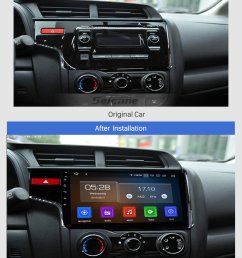 seicane 10 1 inch 2014 2015 2016 honda fit 1024 600 touchscreen android 9 0 radio bluetooth  [ 980 x 1406 Pixel ]