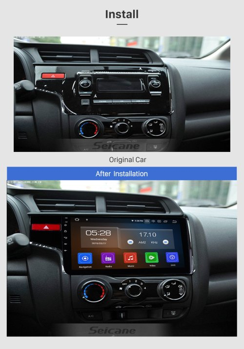 small resolution of  seicane 10 1 inch 2014 2015 2016 honda fit 1024 600 touchscreen android 9 0 radio bluetooth