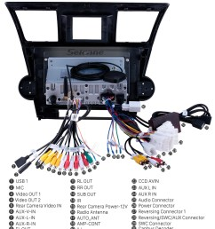 seicane 10 1 inch pure android 9 0 2008 2014 toyota highlander radio removal with sat nav  [ 980 x 985 Pixel ]