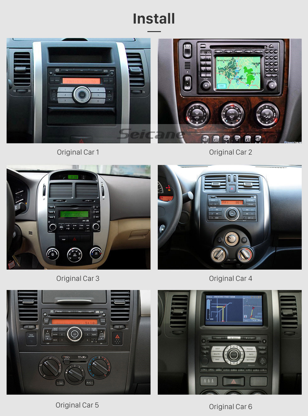 hight resolution of  seicane aftermarket android 9 0 gps navigation system for 2004 2009 kia sportage radio upgrade with