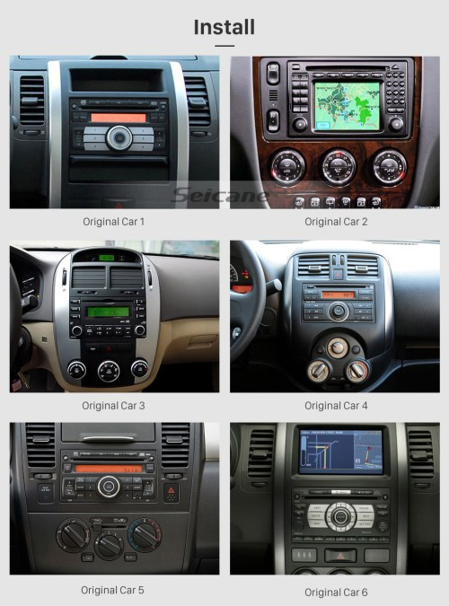 small resolution of  seicane aftermarket android 9 0 gps navigation system for 2004 2009 kia sportage radio upgrade with