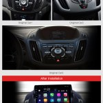Android 10 0 9 Inch Hd Touchscreen Gps Navigation Radio For 2013 2016 Ford Escape With Bluetooth Usb Wifi Aux Support Backup Camera Carplay Swc
