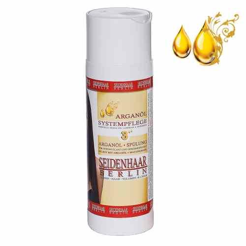 Arganöl Haarspülung für Extensins und Langhaar. Die Haarspülung ist 100% vegan, silikonfrei, parabenfrei, ohne Alkohol