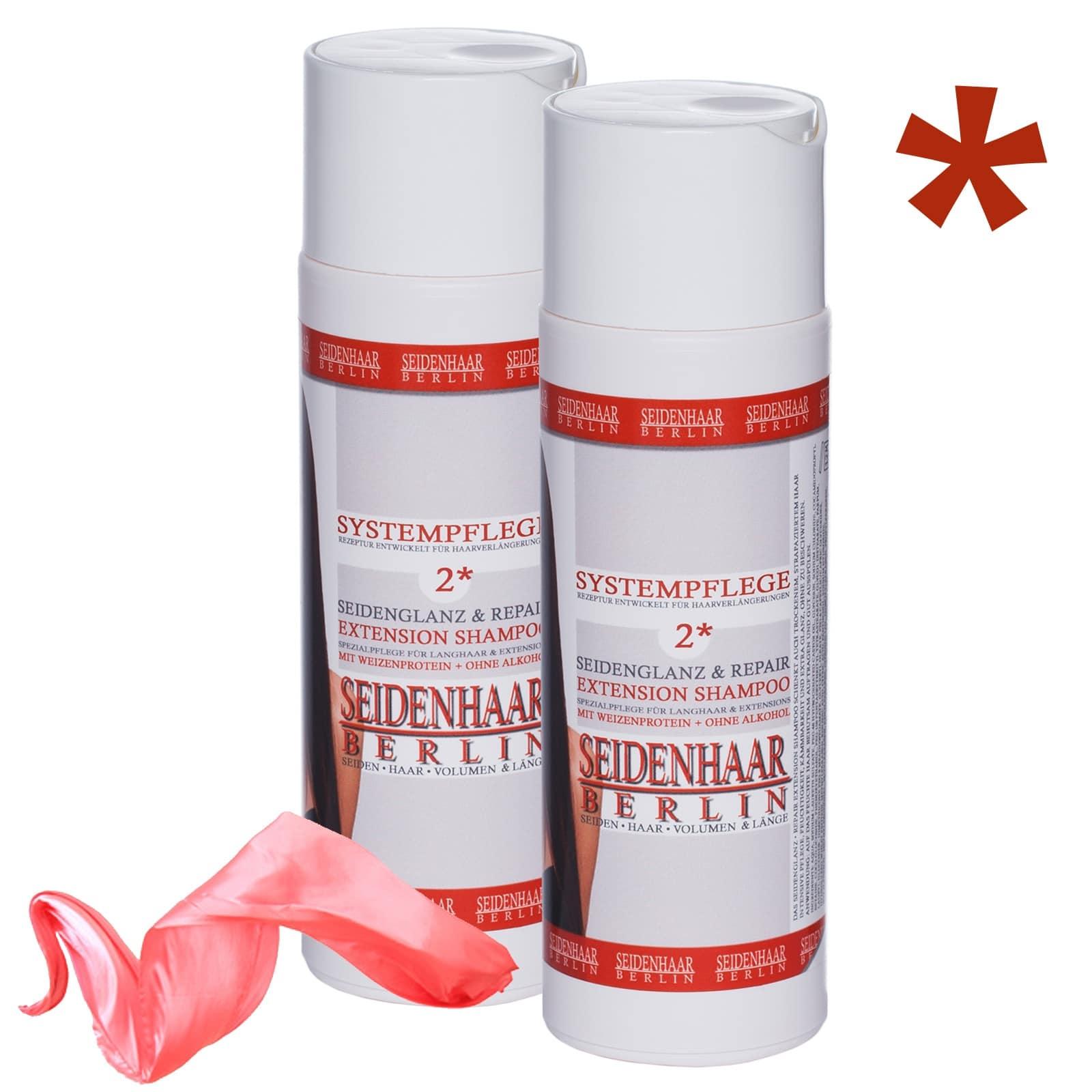 Extension Shampoo Seidenglanz & Repair im Sparset