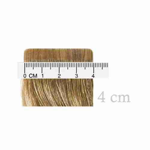 4 cm breite Tape-Extension-Mustersträhne von Seidenhaar Berlin - Hochwertige Echthaar Haarverlängerungen in Remy-Qualität
