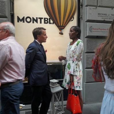 Fiona May partecipa all'evento Montblanc