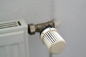 暖房の温度調整ノブ