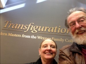 Michael and Kathleen Seiler at the Wexner checking out the newest exhibits.