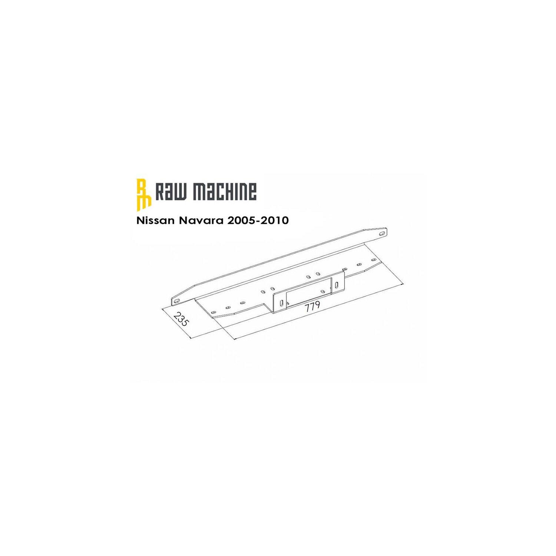 Seilwinden Anbausatz Nissan Navara D40 2005-2010