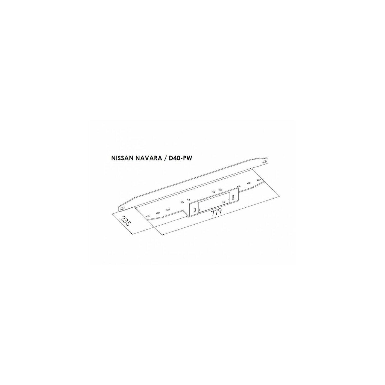 Seilwinden Anbausatz Nissan Pathfinder 2005-2010