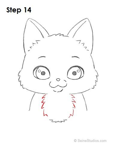 Cartoon cat head drawing for How to draw a cartoon kitten