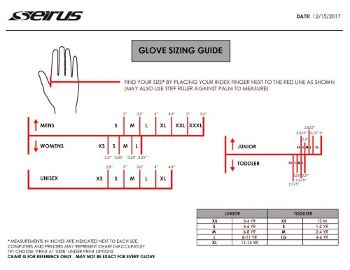 small resolution of seirus sizing guide