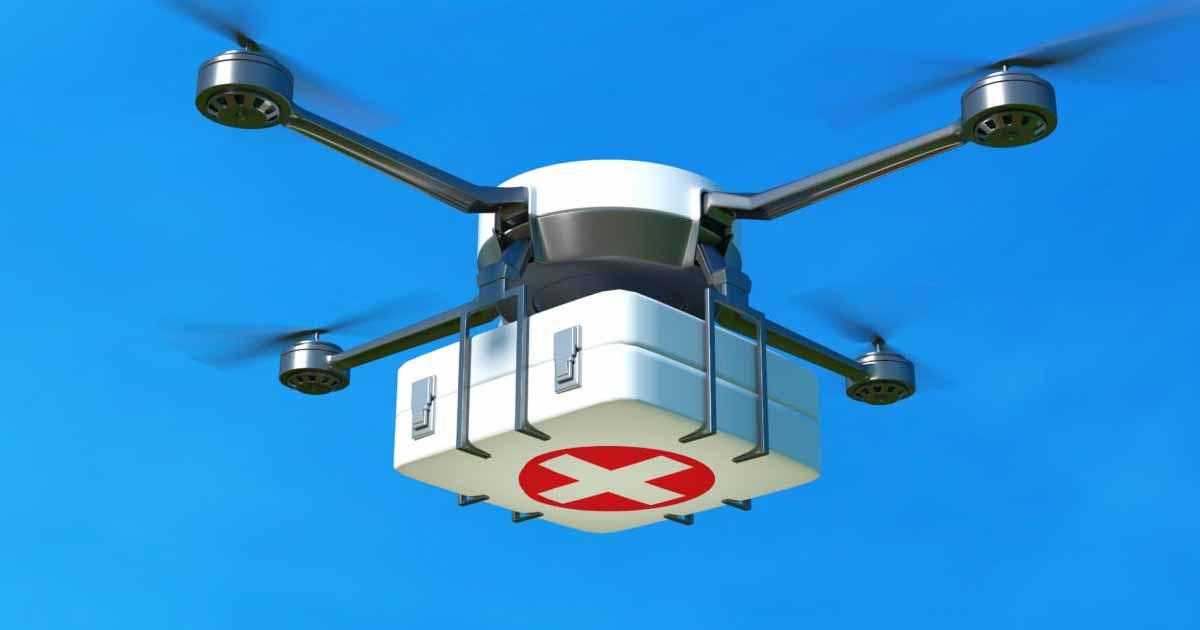Apoyo de drones en el suministro y equipamiento médico
