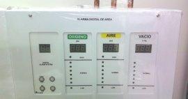 Sistemas de alarma para controlar la presión de los gases medicinales