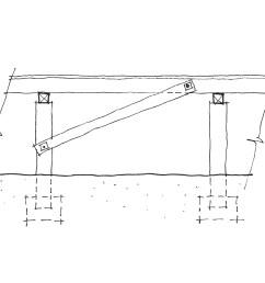 diagonal timber brace  [ 2000 x 1201 Pixel ]