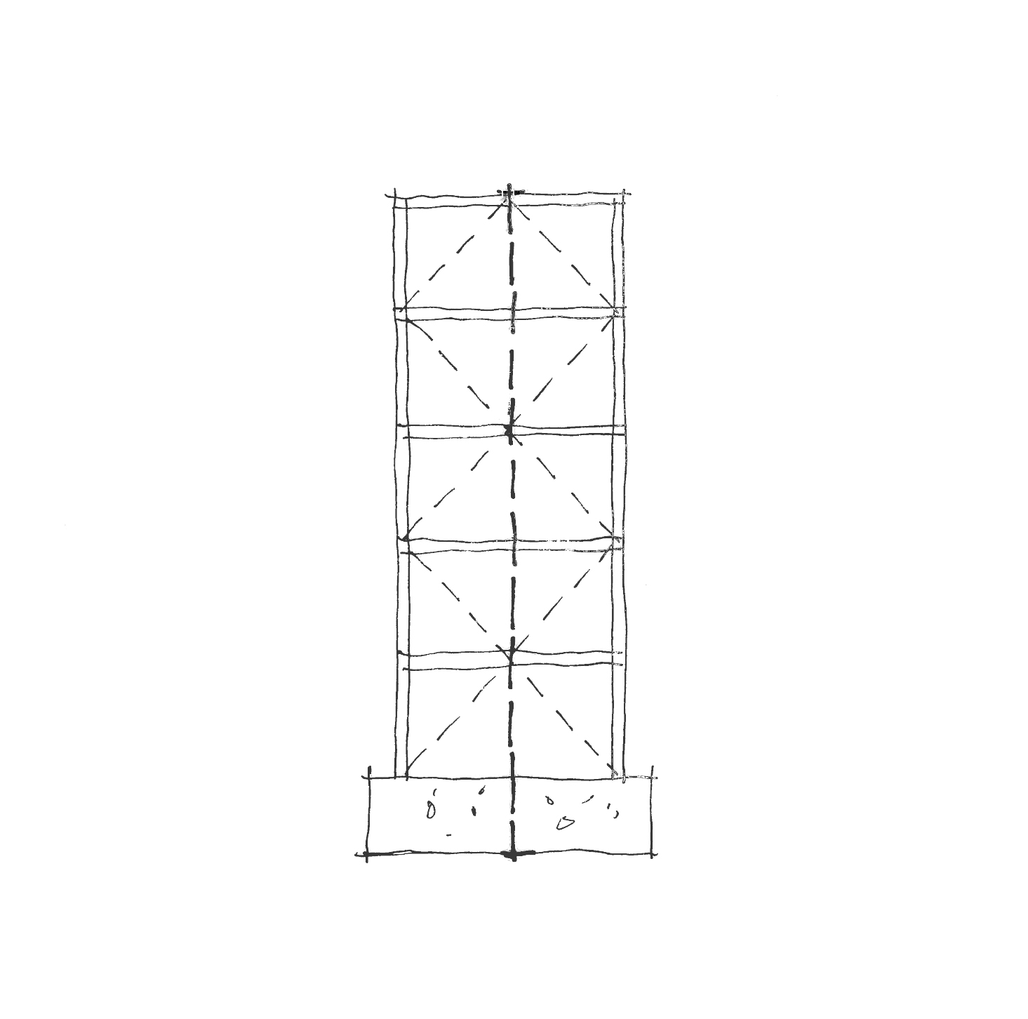 The Angled Columns Of An Earthquakeproof Structure Frame A