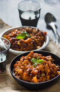 tvp and bean chili | seitanismymotor.com