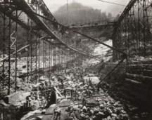 Antonio Paoletti, Diga di Agaro in costruzione, 1935 - 41