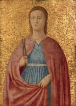 Attributed to Piero della Francesca, Saint Apollonia, Italian, c. 1416/1417 - 1492, c. 1455/1460, tempera on panel, Samuel H. Kress Collection