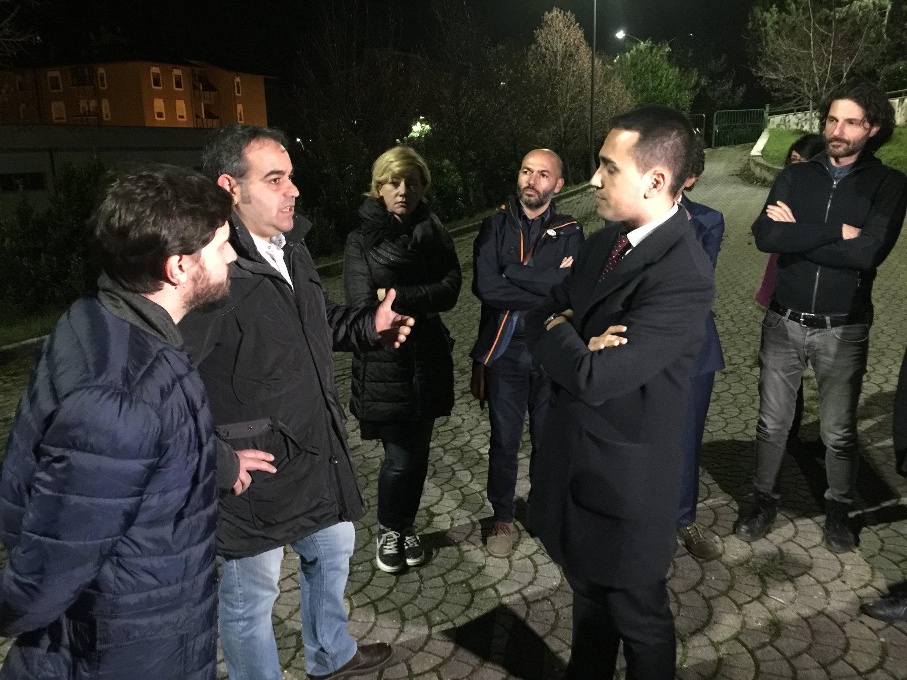 Luigi Di Maio a Battipaglia per il No al Referendum