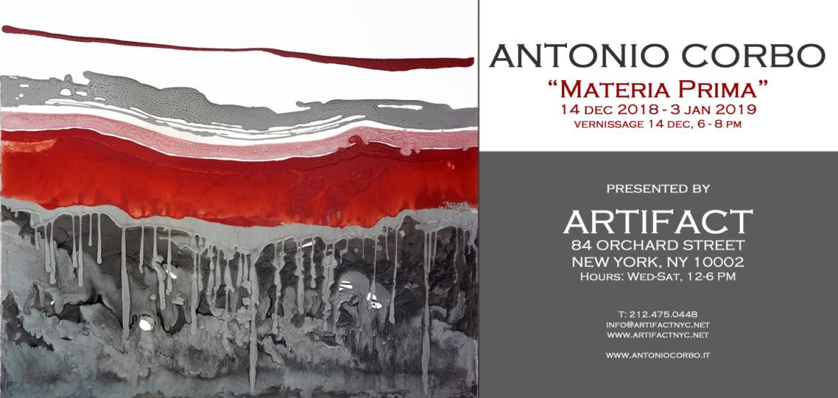 L'arte di Antonio Corbo in mostra all'Artifact Gallery di Manhattan, New York