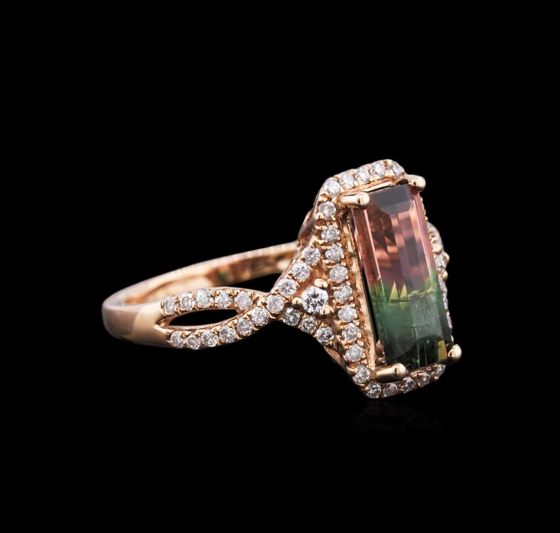 Ring Auction 204 CT BiColor Tourmaline and Diamond Ring  Seized Assets Auctioneers