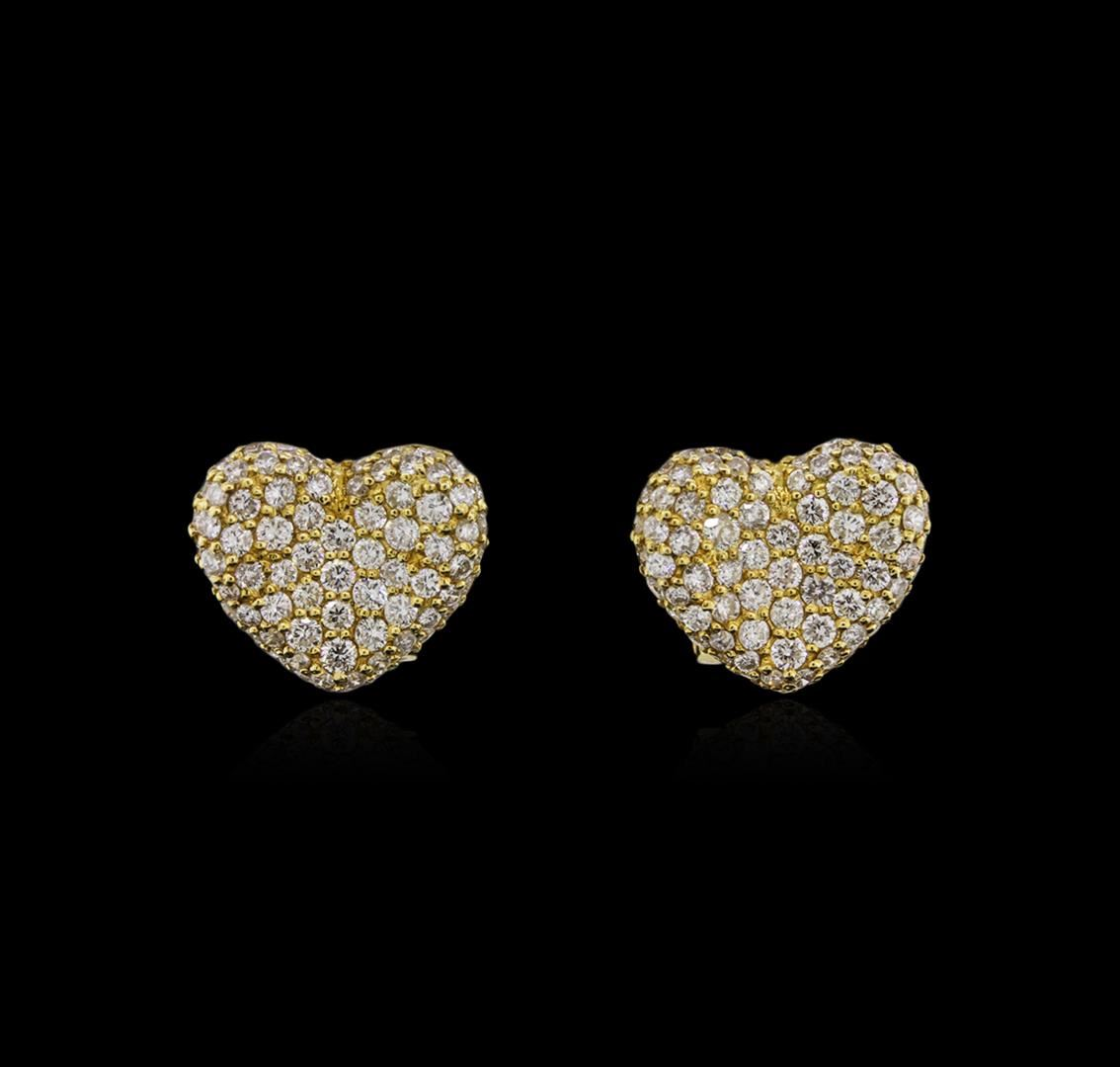 Jewelry Auctions: 18KT Yellow Gold Diamond Earrings