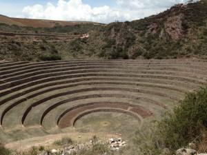 concentric circles of the ruins at Moray
