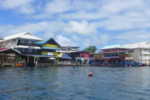 Buildings of Bocas Town along the water