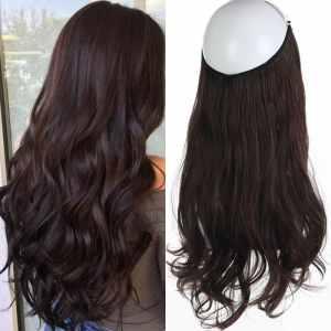 Aplique de Cabelo Mega Hair Wig Extension Castanho Escuro