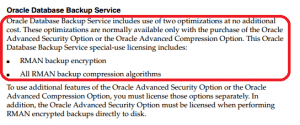 available in Oracle Advanced Security Option