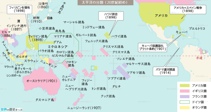 太平洋の分割(20世紀初め)