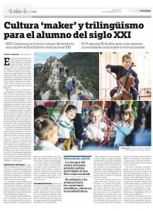 Alguno de los proyectos de Bachillerato se mencionan en el artículo de El Periódico de Catalunya