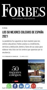 SEK-Catalunya 3er mejor colegio de España según la revista FORBES