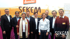 Davert GmbH, the company distributing SEKEM products in Europe, also presented its new products attractively at its own stand.