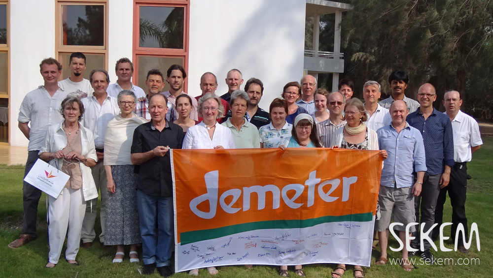 31 delegates from 20 countris recently arrived at SEKEM to discuss the future of Demeter.