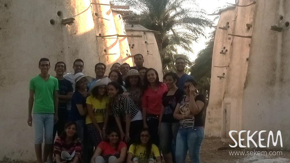 Students from El Minia in SEKEM