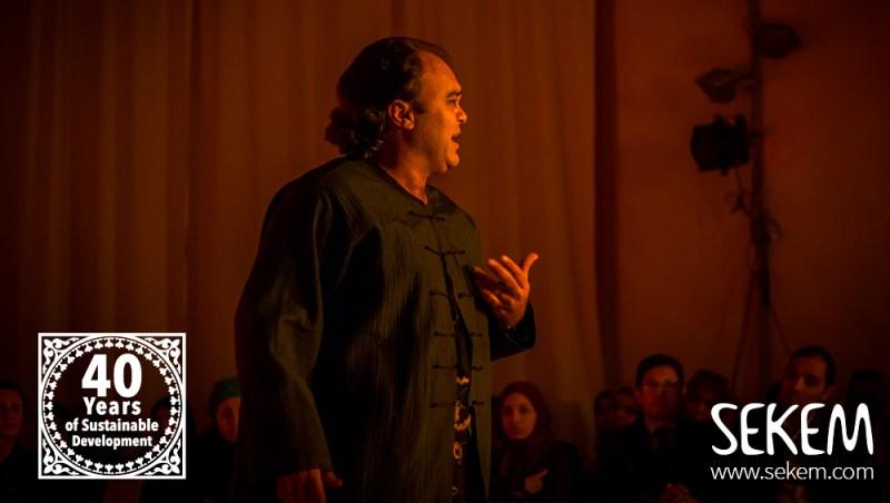 Schauspieler Tamer El Gazzar von der Heliopolis Universität als Macbeth.