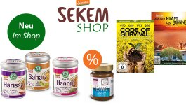 Neue Produkte und Schnäppchen im SEKEM Shop