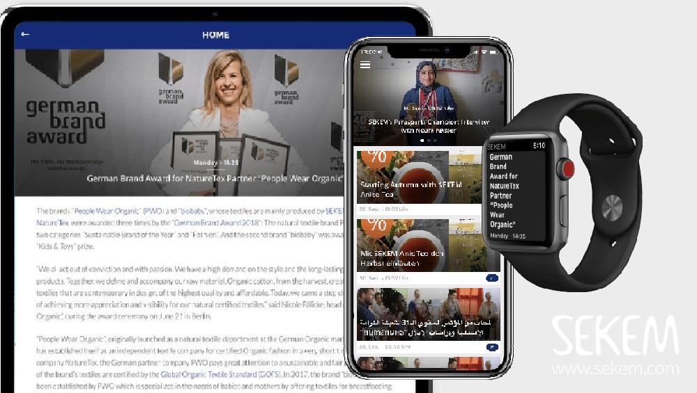 SEKEMs neue APP für Nachrichten direkt aufs iOS oder Android Handy