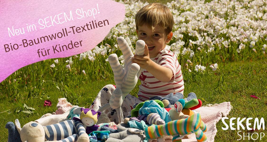 Süße Baby- und Kinder-Textilien jetzt im SEKEM Shop erhältlich